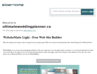 ultimateweddingplanner.ca screenshot