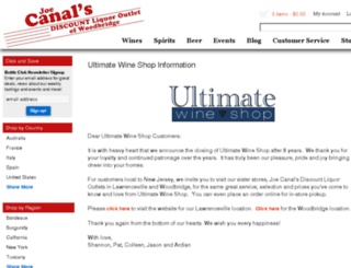 ultimatewineshop.com screenshot
