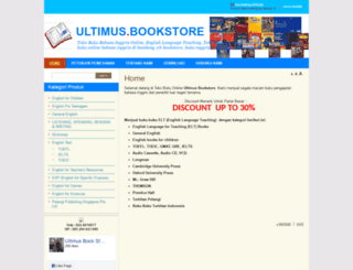 ultimusbookstore.com screenshot
