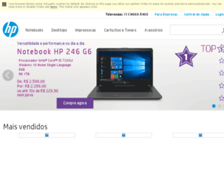 ultrabook.lojahp.com.br screenshot