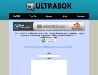 ultrabox.info screenshot