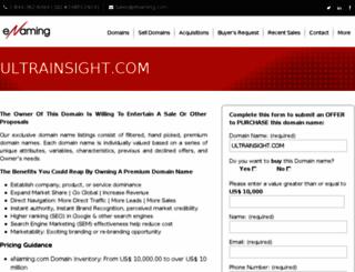 ultrainsight.com screenshot
