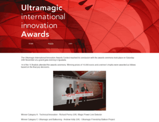 ultramagicawards.com screenshot