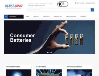 ultramaxbatteries.com screenshot
