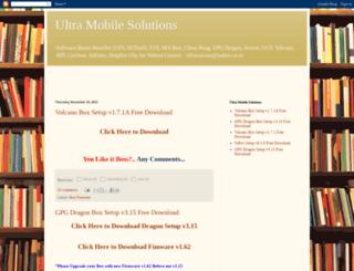 ultramobilesolutions.blogspot.com screenshot