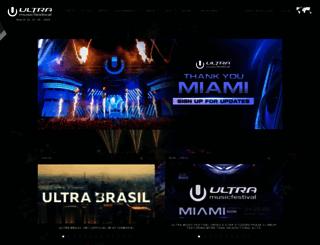ultramusicfestival.com screenshot
