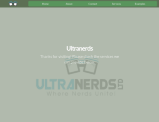 ultranerds.co.uk screenshot