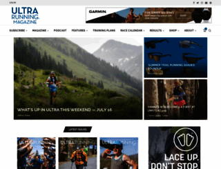 ultrarunning.com screenshot