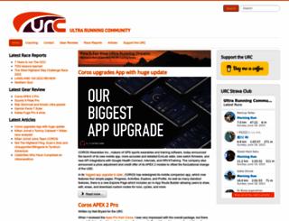 ultrarunningcommunity.com screenshot