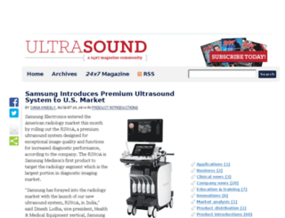 ultrasound.24x7mag.com screenshot
