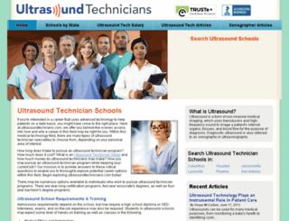 ultrasoundtechnicians.com screenshot