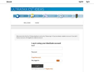 ultrataxcs.ideascale.com screenshot