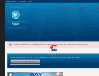 ultrawellnessreversediabetes.com screenshot