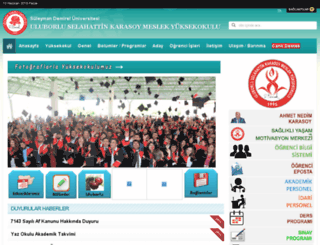 uluborlumyo.sdu.edu.tr screenshot