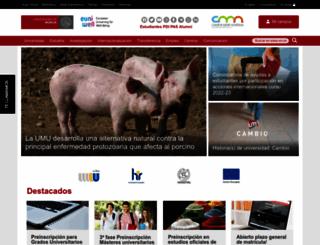 um.es screenshot