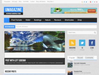 umagazine.lumosstheme.com screenshot