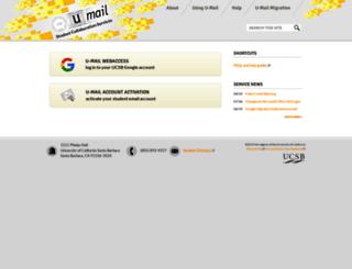 umail.ucsb.edu screenshot
