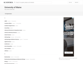 umaine.academia.edu screenshot