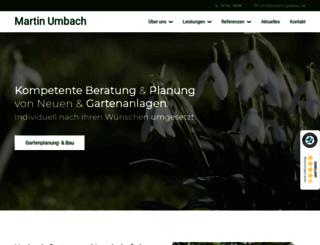 umbach-galabau.de screenshot