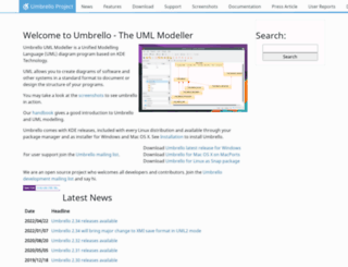 umbrello.kde.org screenshot