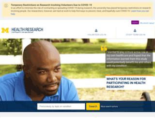 umclinicalstudies.org screenshot