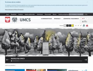 umcs.eu screenshot