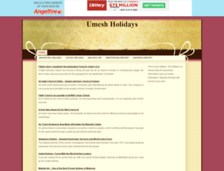 umeshholidays.angelfire.com screenshot