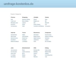 umfrage-kostenlos.de screenshot