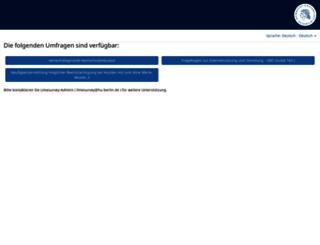 umfrage.hu-berlin.de screenshot