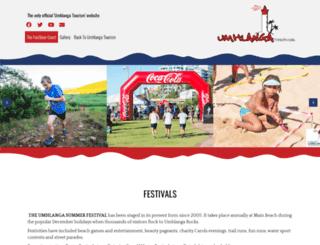 umhlangafestivals.co.za screenshot
