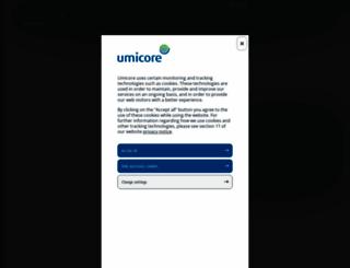 umicore.com screenshot