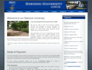 umis.babcockuni.edu.ng screenshot