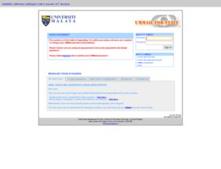 ummail.um.edu.my screenshot