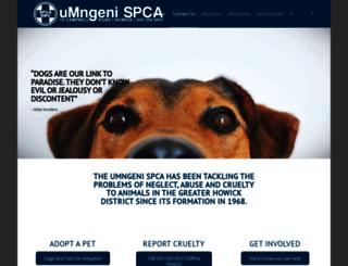 umngenispca.org.za screenshot