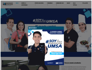 umsa.edu.mx screenshot