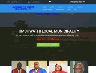 umshwathi.gov.za screenshot