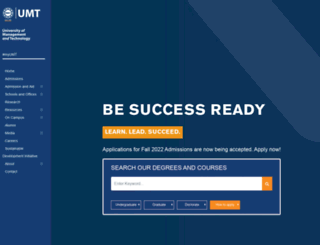 umt.edu.pk screenshot