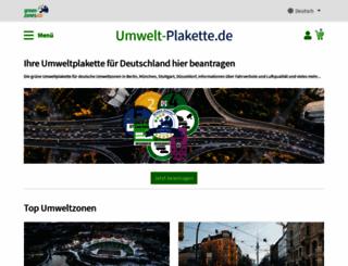 umwelt-plakette.de screenshot