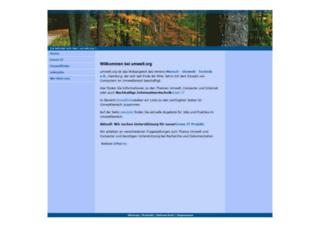 umwelt.org screenshot