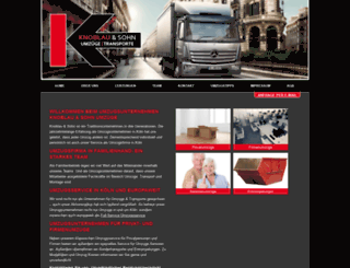 umzuege-transporte-koeln.de screenshot