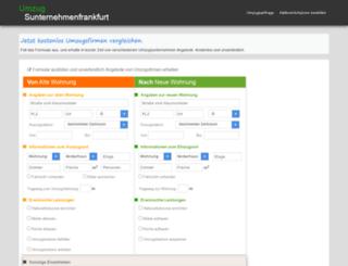 umzugsunternehmenfrankfurt.org screenshot