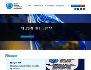 unaa.org.au screenshot