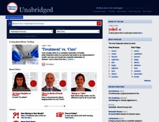 unabridged.merriam-webster.com screenshot