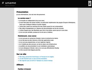 uname.pingveno.net screenshot