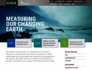 unavco.org screenshot