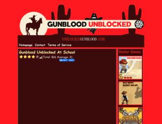 unblockedgunblood.com screenshot