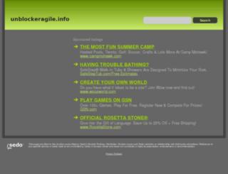 unblockeragile.info screenshot