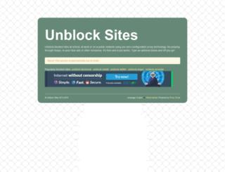 unblocksites.co screenshot