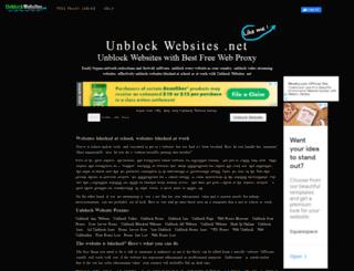unblockwebsites.net screenshot