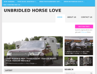 unbridledhorselove.com screenshot